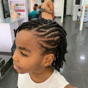 side weaving hairstyle forkids