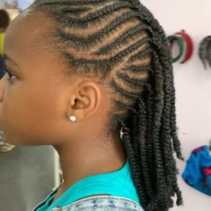 side weaving hairstyle