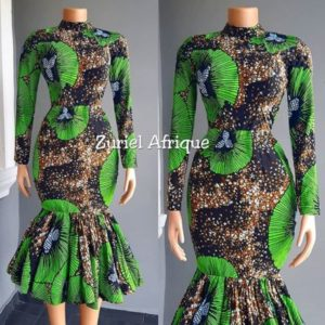 three quarter ankara gown