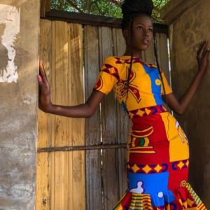 straight and flay ankara gown