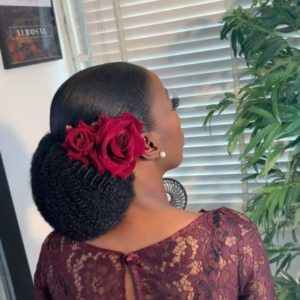 unique African wedding hair