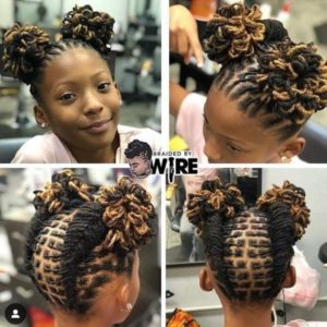 loc hair styles for kids