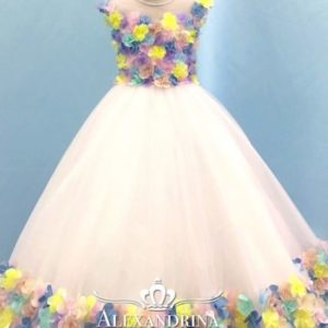 colorful flower girl dress