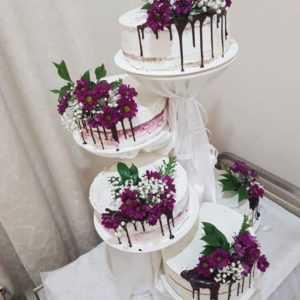 multiple tier wedding cake