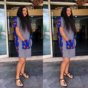 casual ankara gown with pocket