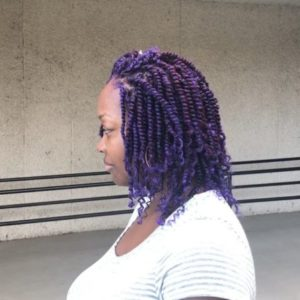 Purple kinky braid
