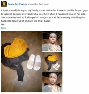 Man fights his newly married younger sister for refusing to wash his clothes
