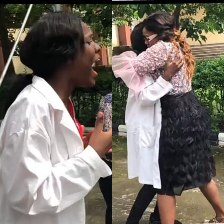 Tearful moment a mom reunited with her daughter
