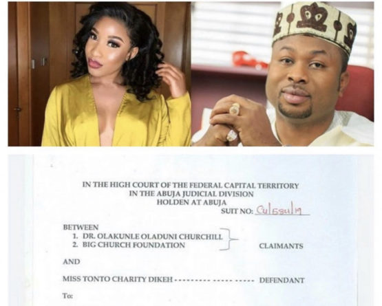 Tonto Dikeh Churchill