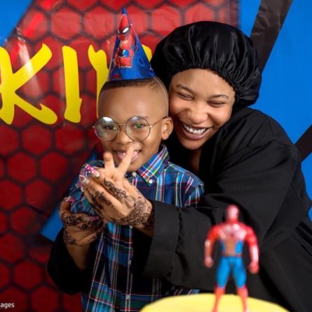 Tonto Dikeh and son, Andre
