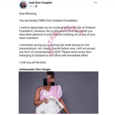 Nigerian Employer Sacks Employee Via Facebook
