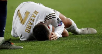 Injured Eden Hazard