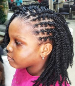kinky braid for kids