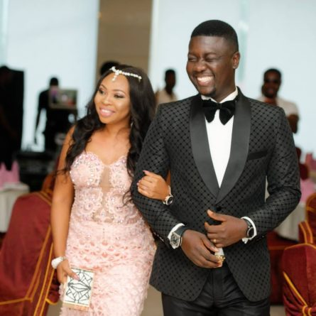Seyi Law and wife, Stacey