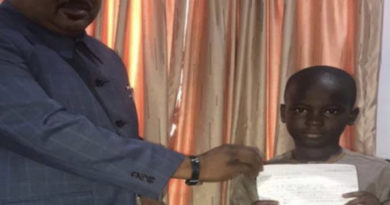 8-Year-Old Boy Donates Savings To Fight COVID-19 In Kwara State