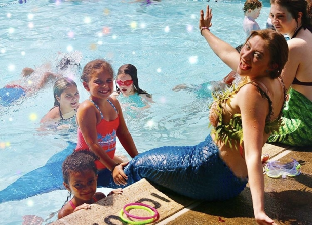 Student spends $3,000 to become real-life mermaid after being inspired by childhood meeting with Disney princess Ariel (photos