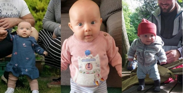 Parents Stunned As Their 8 Weeks Old Baby Stands On Her Own (Photos)