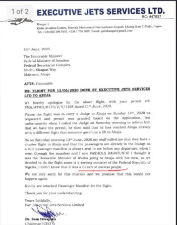 'Bunch Of Useless People' - Executive Jets CEO Writes Minister Of Aviation