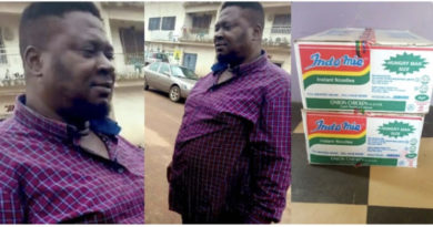Nigerian Reacts As Good Honest Man Gets Free Supply Of Indomie for 6 Months After Returning N1.8 Million Found Inside A Carton He Bought