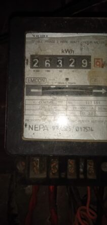 A photo of a postpaid meter